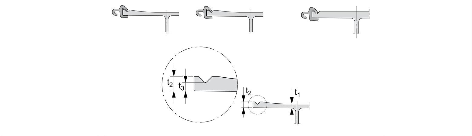 Détails de la géométrie de l'aile du HZ-M
